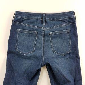 Athleta Sculptek Skinny Blue Denim Jeans Mid Rise